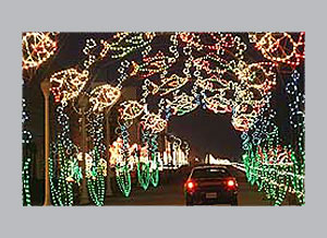 Holiday Lights at the Virginia Beach boardwalk